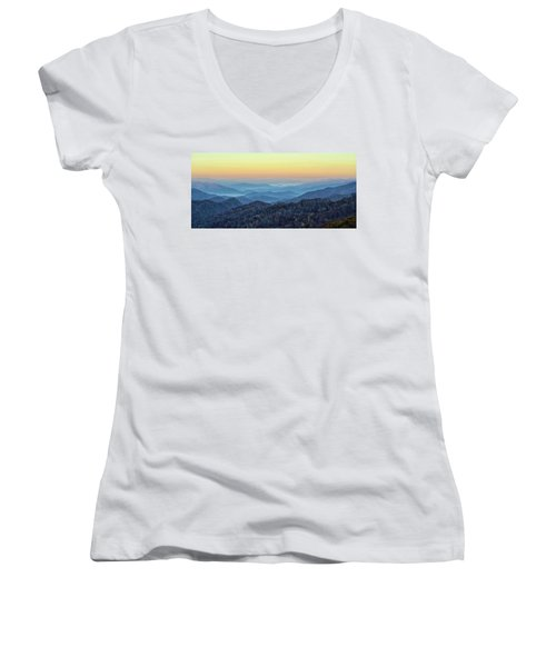 Smoky Mountains Women's V-Neck T-Shirt
