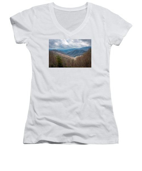 Smoky Mountains Women's V-Neck (Athletic Fit)