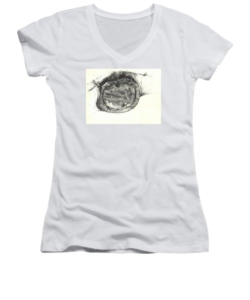 Snapping Turtle Women's V-Neck (Athletic Fit)
