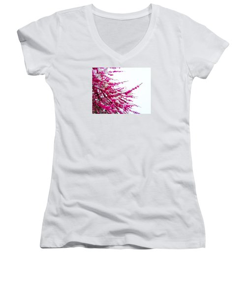 Snow Blossoms Women's V-Neck T-Shirt