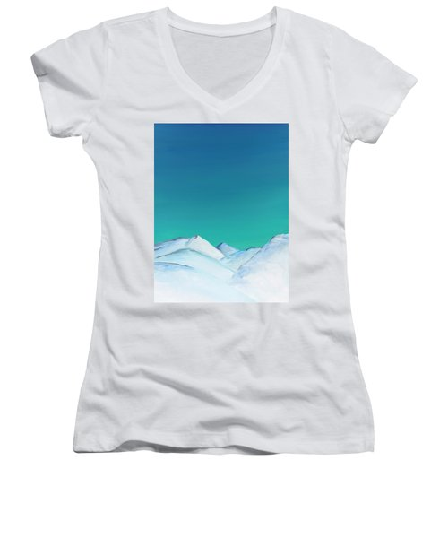 Snow Capped Mountains Women's V-Neck