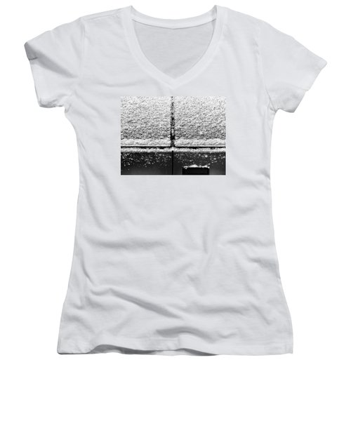 Women's V-Neck featuring the photograph Snow Covered Rear by Robert Knight