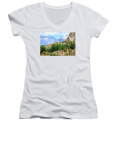 Snow In The Desert Women's V-Neck