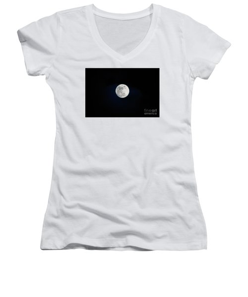 Snow Moon 4 Women's V-Neck (Athletic Fit)