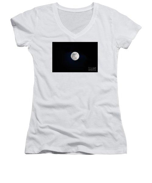 Snow Moon 4 Women's V-Neck T-Shirt