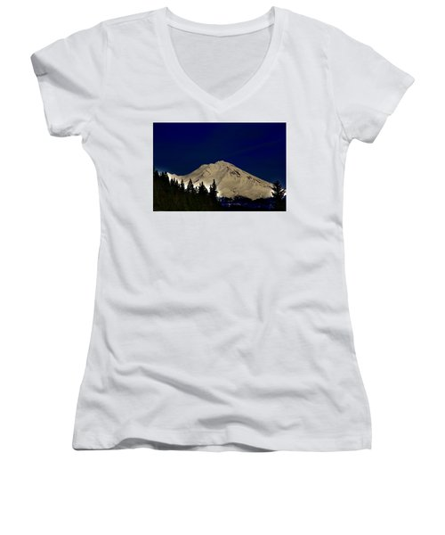 Snow On Shasta Women's V-Neck (Athletic Fit)