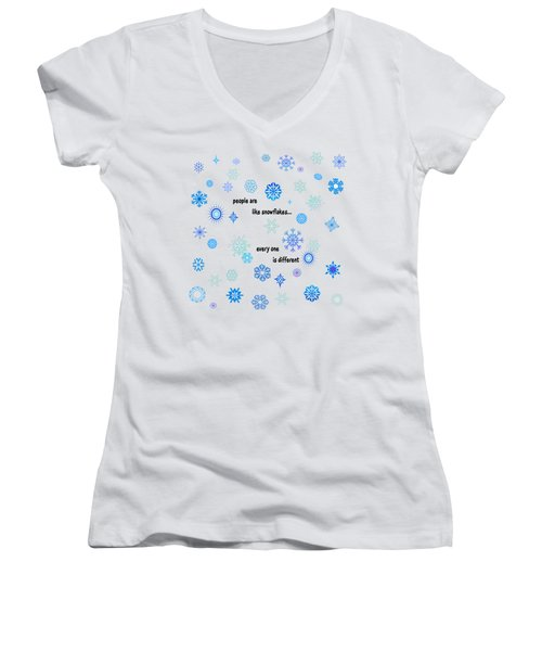 Snowflakes 3 Women's V-Neck (Athletic Fit)