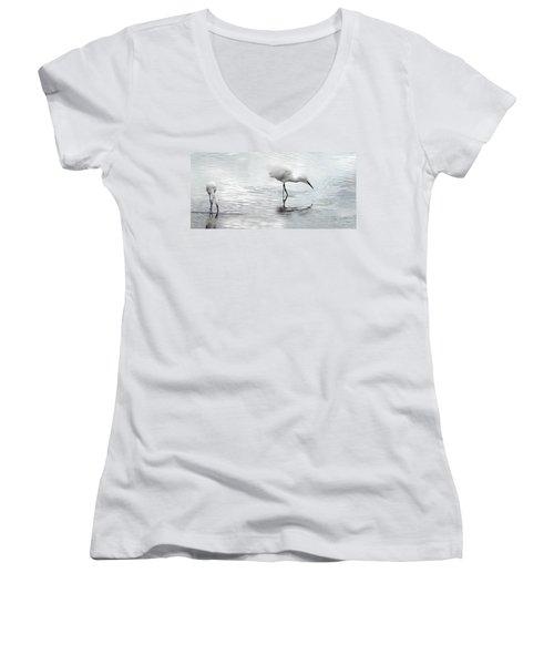 Snowy Egrets Women's V-Neck