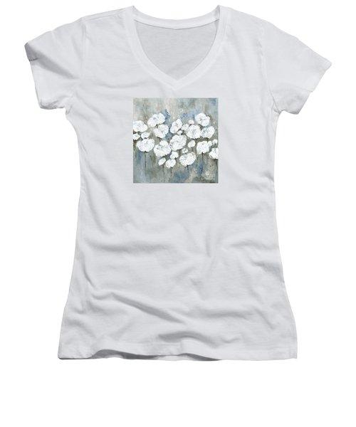 Snowy Mississippi Summer Women's V-Neck T-Shirt (Junior Cut) by Kirsten Reed