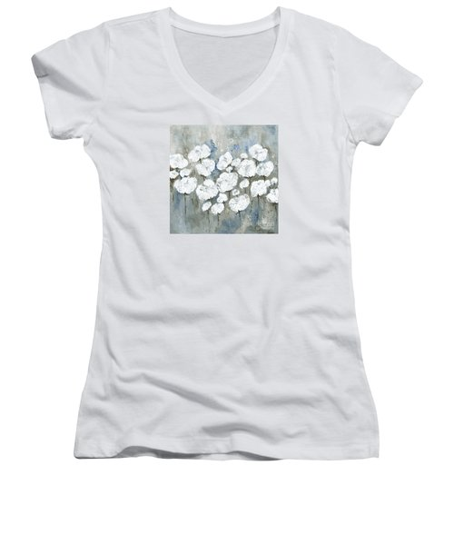 Snowy Mississippi Summer Women's V-Neck (Athletic Fit)