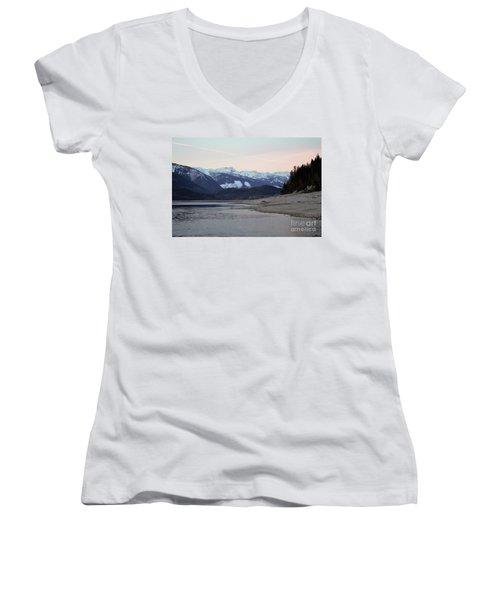 Snowy Mountains Women's V-Neck