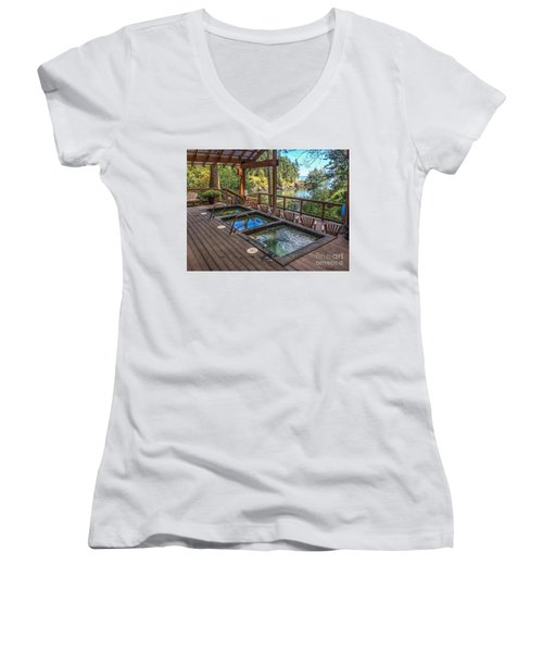 Soak In Doe Bay Women's V-Neck T-Shirt