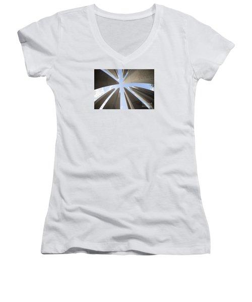 Soaring Words Women's V-Neck T-Shirt (Junior Cut) by David Bearden