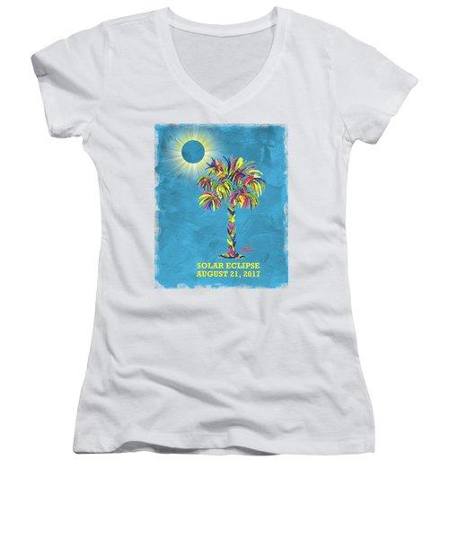 Solar Eclipse 2017 Women's V-Neck T-Shirt