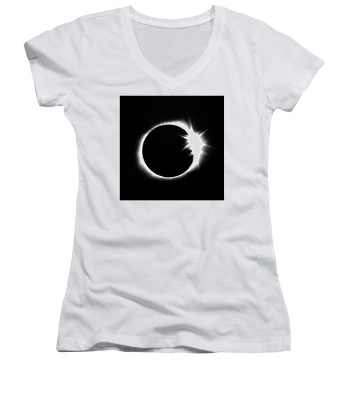 Solar Eclipse Women's V-Neck T-Shirt