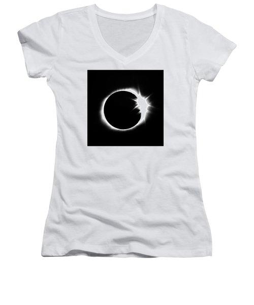 Solar Eclipse Women's V-Neck