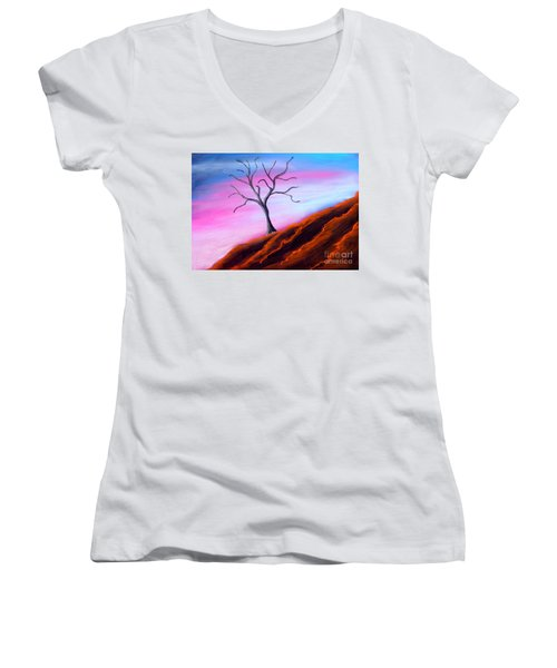 Solitary Women's V-Neck