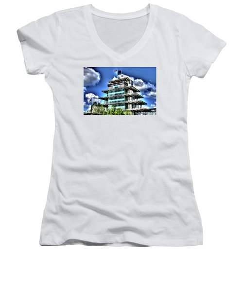 Some Cloudy Day Women's V-Neck T-Shirt (Junior Cut) by Josh Williams