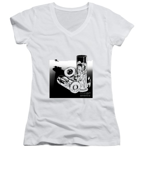 Someone Had To Do Something, And Quick Women's V-Neck T-Shirt