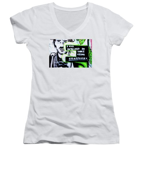 Women's V-Neck T-Shirt (Junior Cut) featuring the photograph Something Significant by Art Block Collections