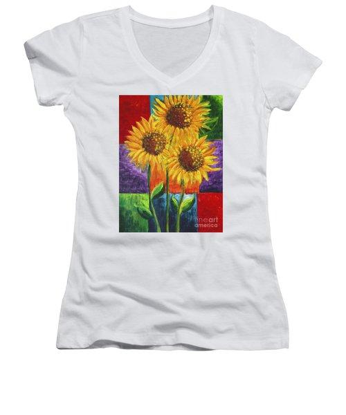 Sonflowers I Women's V-Neck T-Shirt