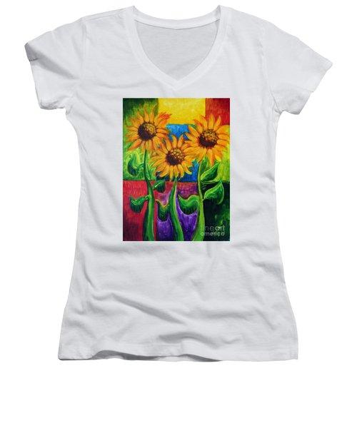 Sonflowers II Women's V-Neck