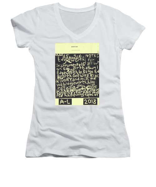 Song Notes Title Page A-l Women's V-Neck