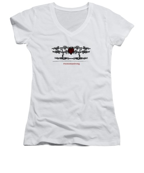 Sonoma Strong Women's V-Neck (Athletic Fit)