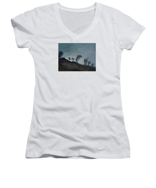 Soon Coming Women's V-Neck (Athletic Fit)