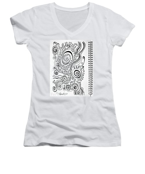 Sound Of The Lines Women's V-Neck