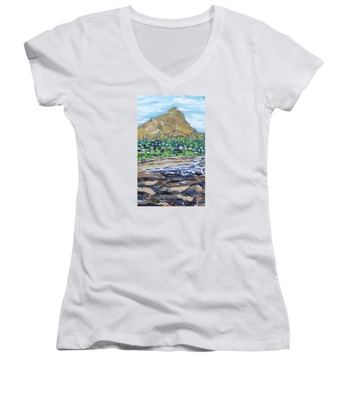 South African Coastline Part Two Women's V-Neck (Athletic Fit)
