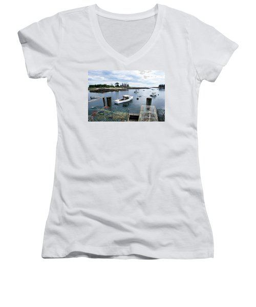 Southport Maine Women's V-Neck T-Shirt (Junior Cut)