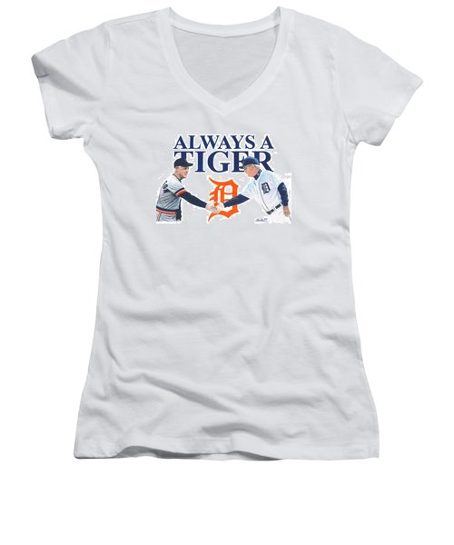Sparky Anderson And Jim Leyland Women's V-Neck (Athletic Fit)