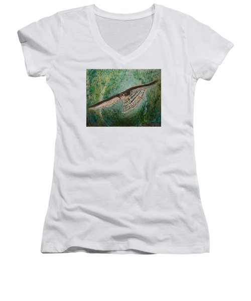 Sparrowhawk Hunting Women's V-Neck (Athletic Fit)