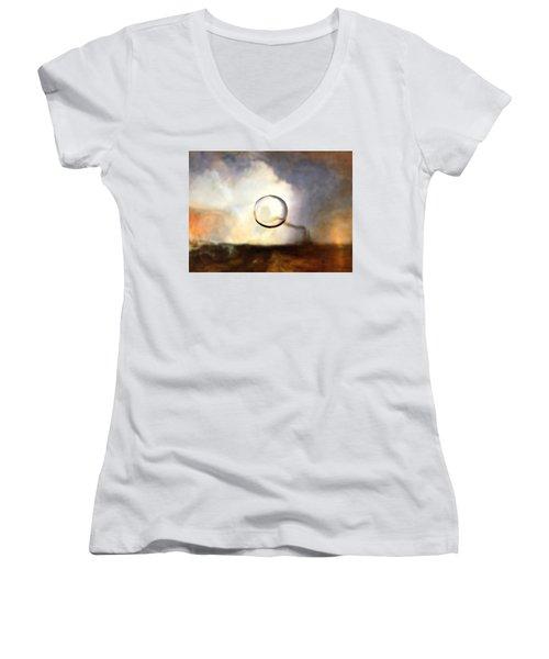 Sphere I Turner Women's V-Neck T-Shirt (Junior Cut) by David Bridburg