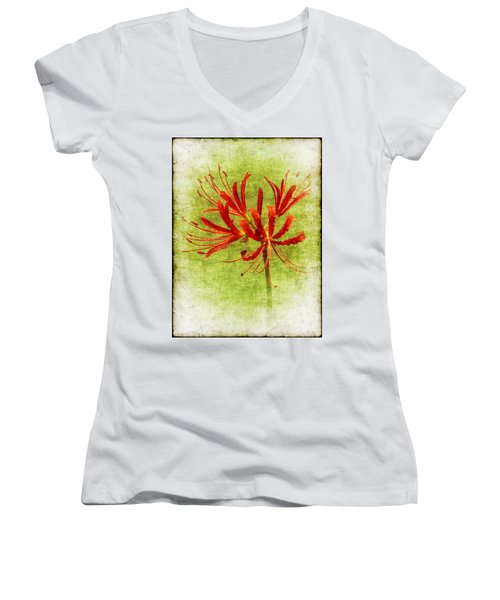Spider Lily Women's V-Neck T-Shirt