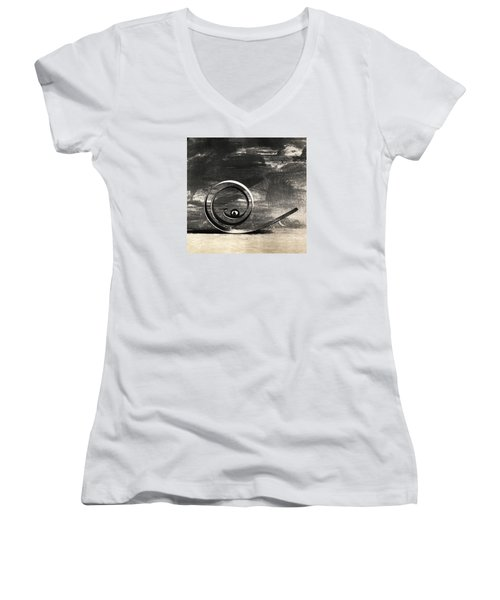 Women's V-Neck T-Shirt (Junior Cut) featuring the photograph Spiral And Ball by Andrey  Godyaykin