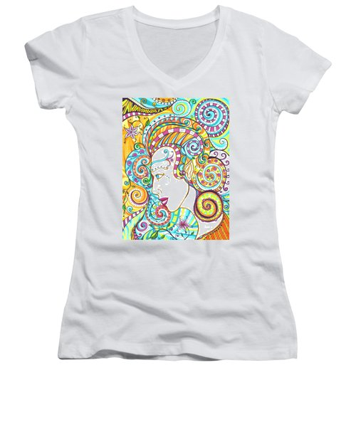 Spiraled Out Of Control Women's V-Neck (Athletic Fit)