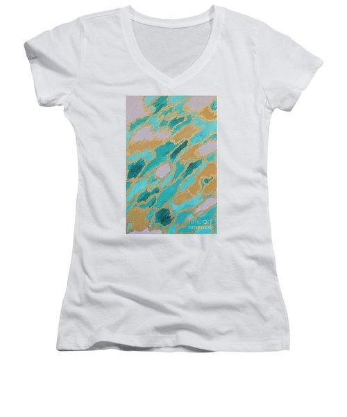 Spirit Journey Women's V-Neck T-Shirt (Junior Cut) by Rachel Hannah