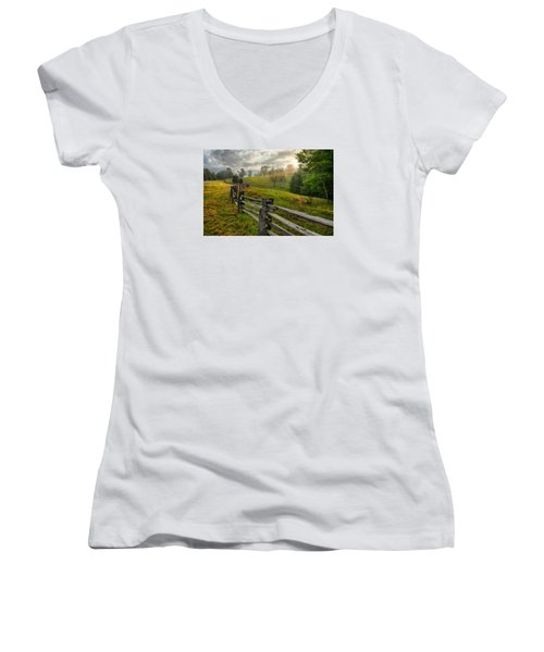 Splash Of Morning Light Women's V-Neck T-Shirt