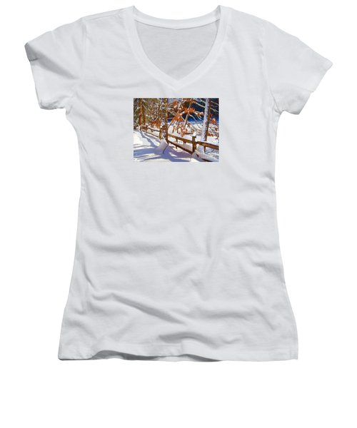 Split Rails Women's V-Neck T-Shirt