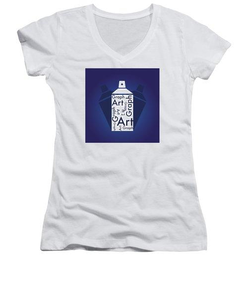 Graph Art Spray Can Women's V-Neck T-Shirt