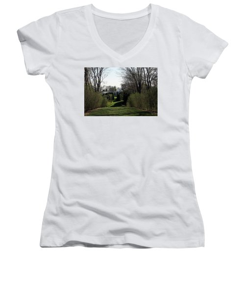 Spring At Ladew Topiary Gardens Women's V-Neck (Athletic Fit)