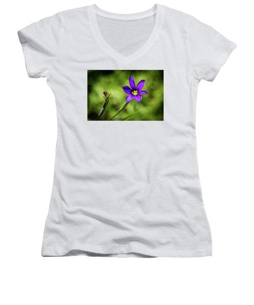 Spring Blooms Women's V-Neck