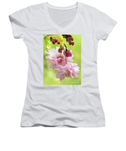 Spring Blossoms 8 Women's V-Neck (Athletic Fit)