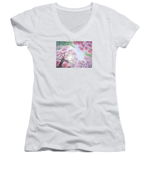 Spring Blossoms Women's V-Neck