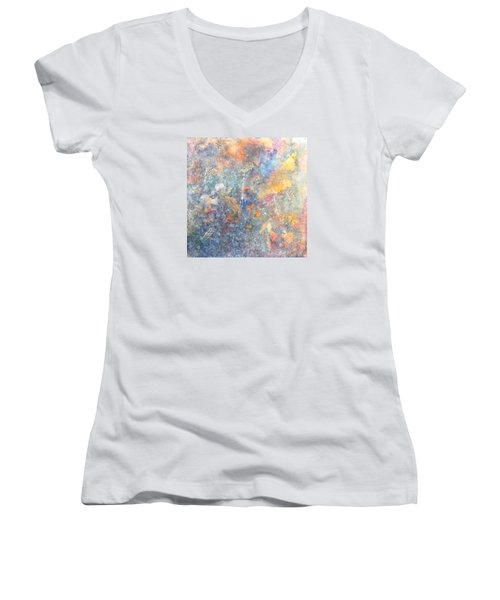 Spring Creation Women's V-Neck T-Shirt (Junior Cut) by Theresa Marie Johnson