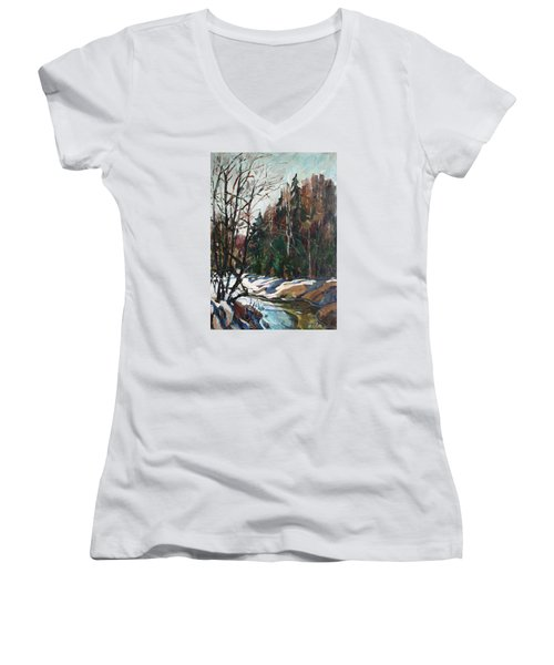 Spring Creek Women's V-Neck T-Shirt