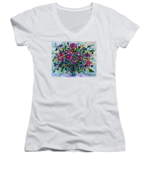 Spring Flowers Women's V-Neck T-Shirt