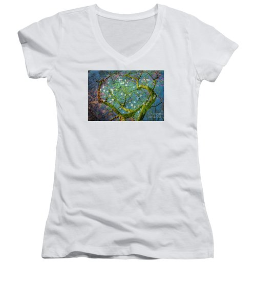 Spring Is In The Air-1 Women's V-Neck T-Shirt